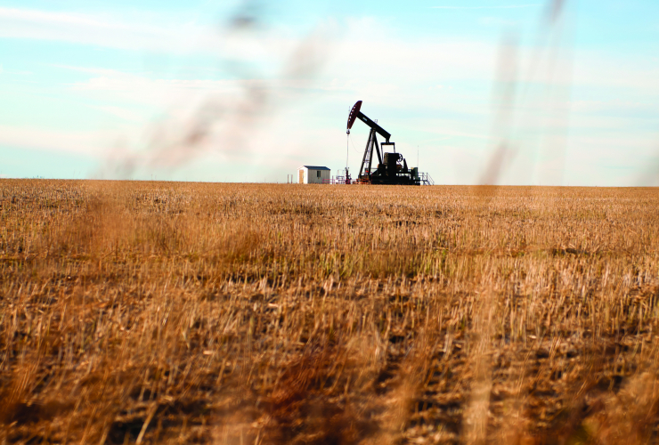 A pumpjack in the Alberta prairie. Supplied by Alberta Energy Regulator