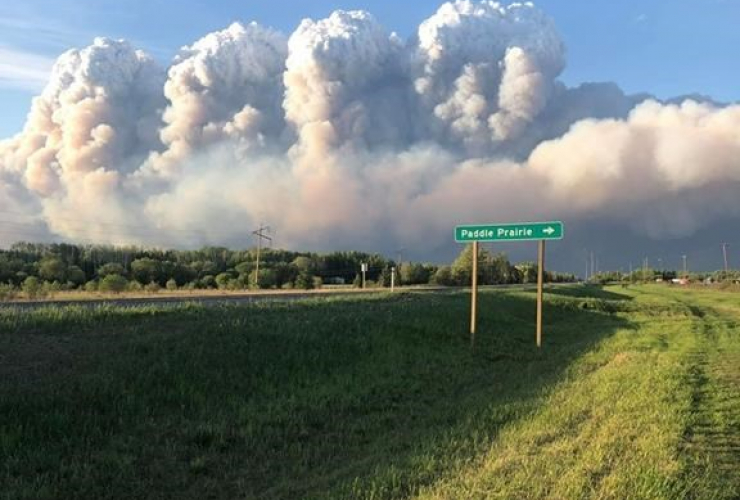 Smoke, wildfires, Paddle Prairie,