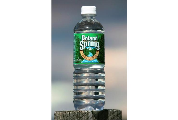 bottle, Poland Spring water, Fryeburg, Maine.,