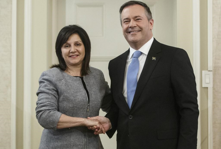 Alberta premier Jason Kenney, Adriana LaGrange, Minister of Education,