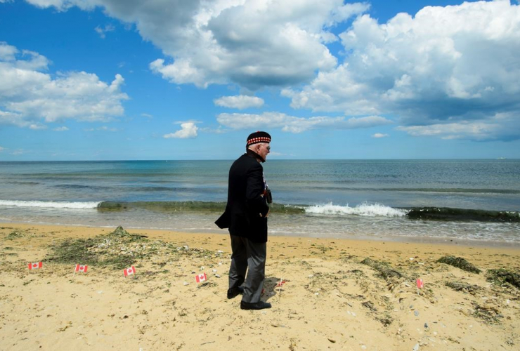 Veteran, Second World War, Roy Hare, Juno Beach, D-Day 75th Anniversary Canadian National Commemorative Ceremony, Juno Beach, Courseulles-Sur-Mer, France,
