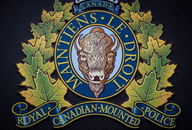 "RCMP logo, Royal Canadian Mounted Police ""E"" Division Headquarters,"