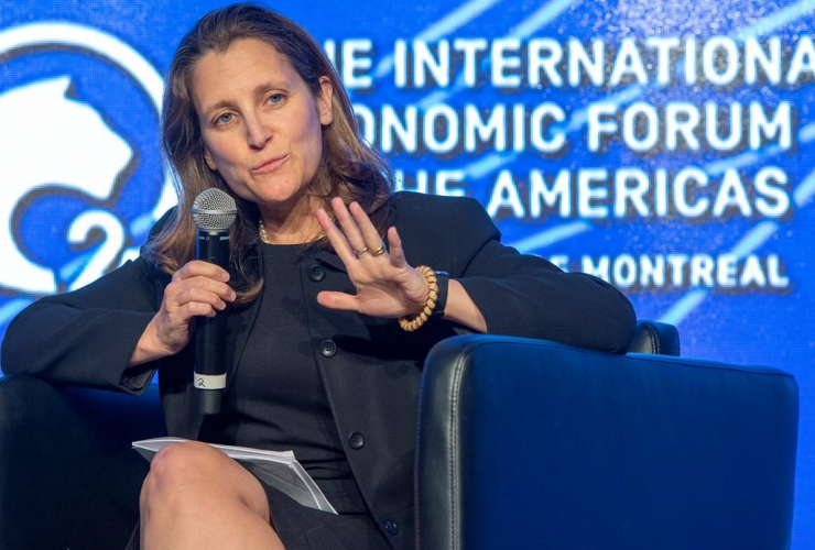 Foreign Affairs Minister Chrystia Freeland, International Economic Forum of the Americas Conference, Montreal,