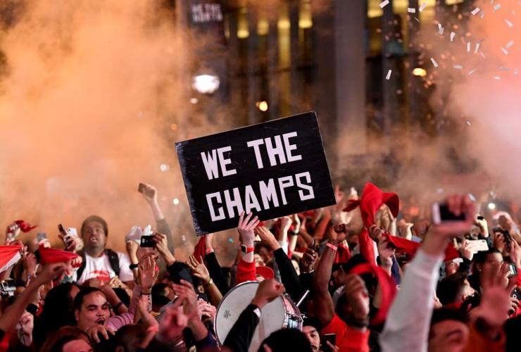 Toronto Raptors fans.