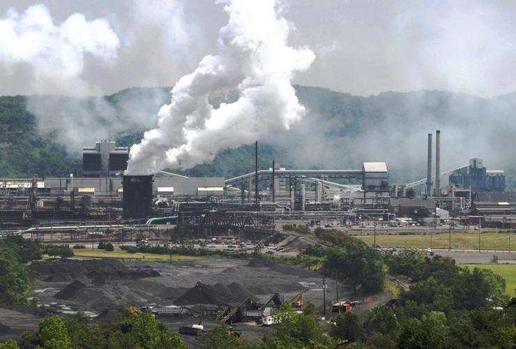 smoke, United States Steel Corp., Clairton Coke Works, Clairton, Pa.