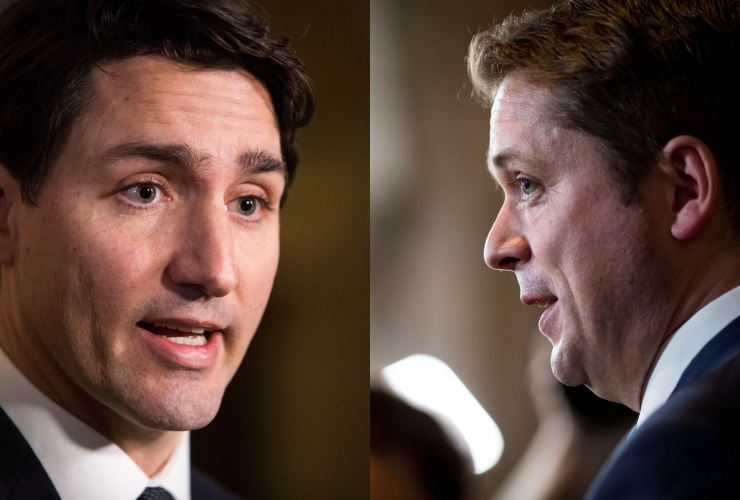 Justin Trudeau, Andrew Scheer