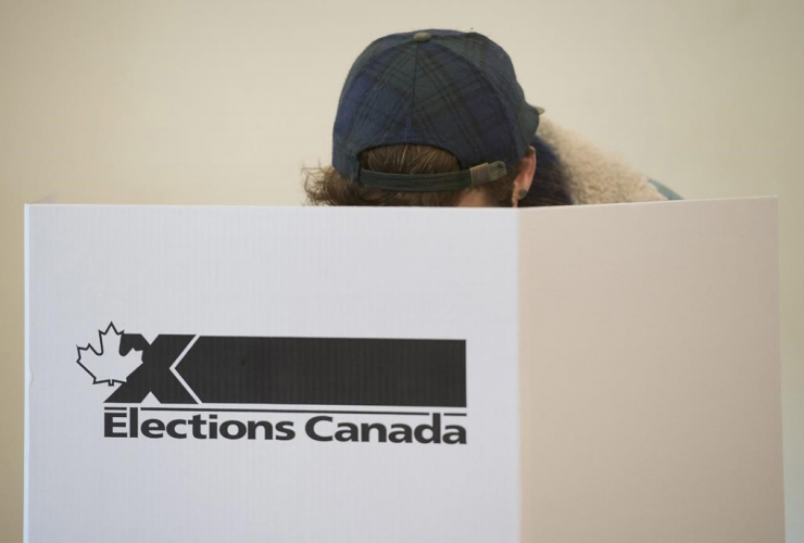 woman, marks, ballot,