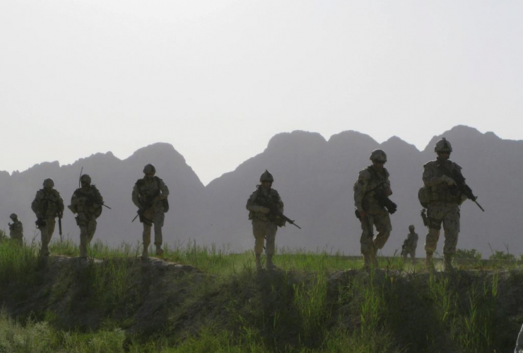 Canadian soldiers, patrol, Dand district, southern Afghanistan,