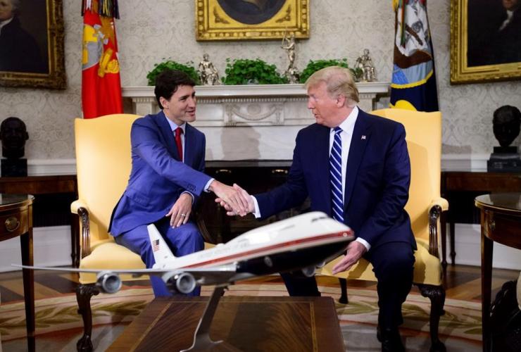 Prime Minister Justin Trudeau, U.S. President Donald Trump, White House, Washington,