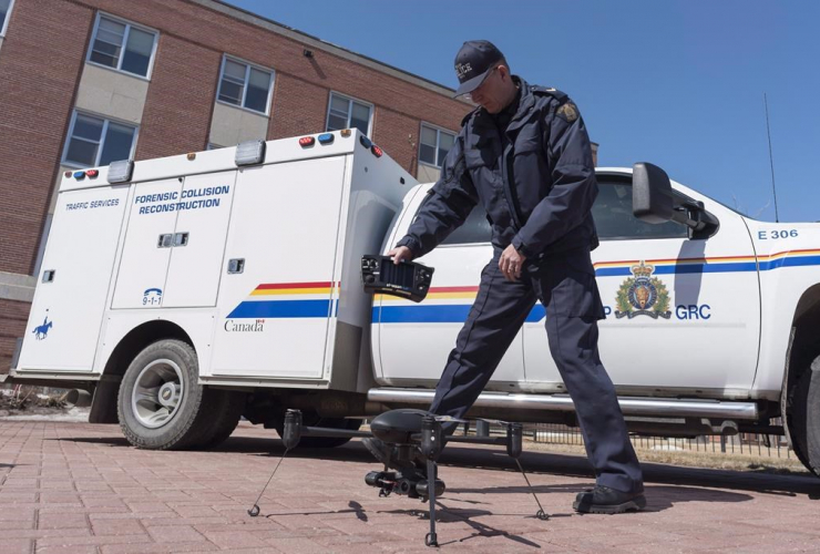 RCMP Cpl. Doug Green, drone, Forensic Collision Reconstruction,