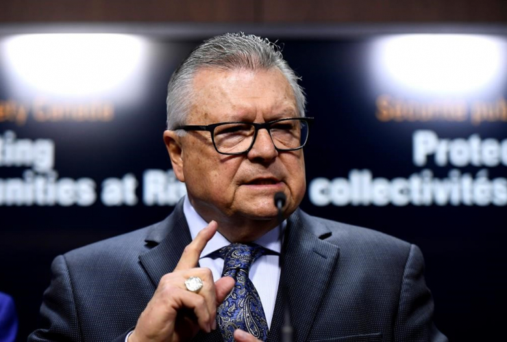 Minister of Public Safety and Emergency Preparedness, Ralph Goodale,