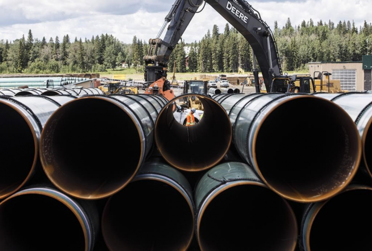 Pipe, Trans Mountain pipeline,