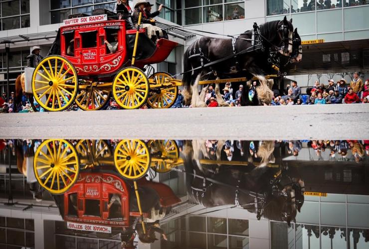 stagecoach, Calgary Stampede parade, Calgary,