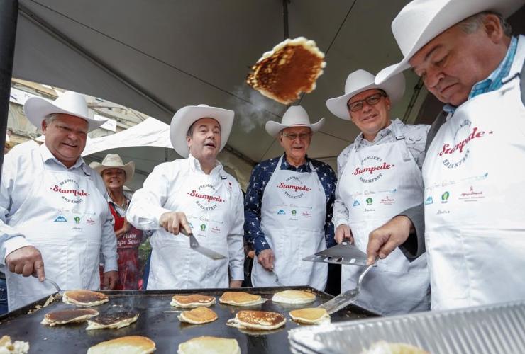 Alberta Premier Jason Kenney, Stampede breakfast, Doug Ford, Blaine Higgs, Scott Moe, Robert McLeod,