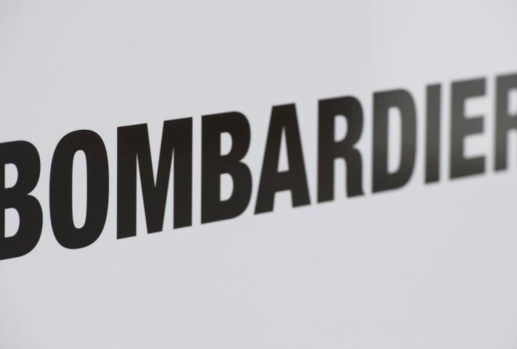 Bombardier logo, Bombardier assembly plant, Mirabel,