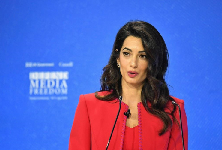Amal Clooney, Global Conference for Media Freedom, The Printworks, London,