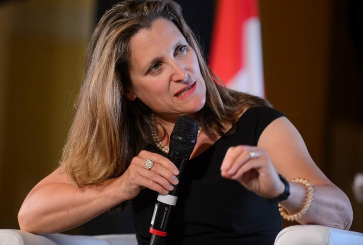 Minister of Foreign Affairs of Canada, Chrystia Freeland,