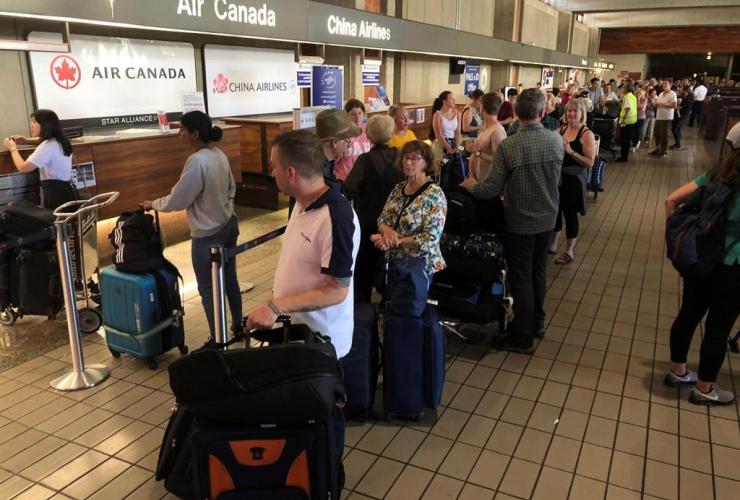 Passengers, Australia-bound Air Canada flight,