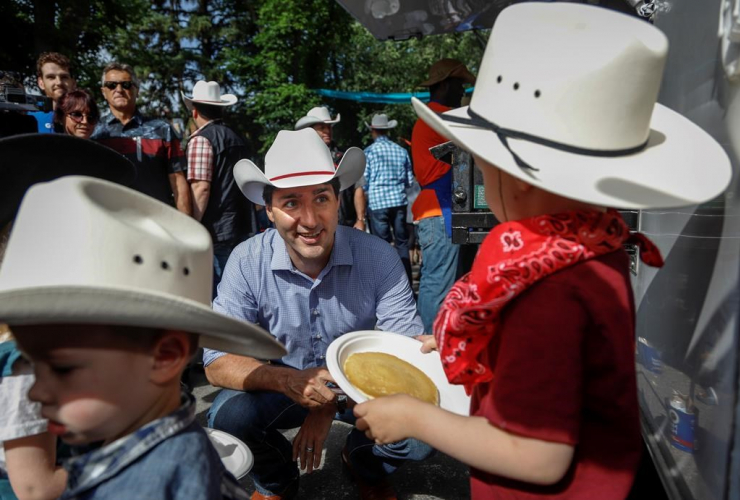 Prime Minister Justin Trudeau, pancake breakfast, Calgary,
