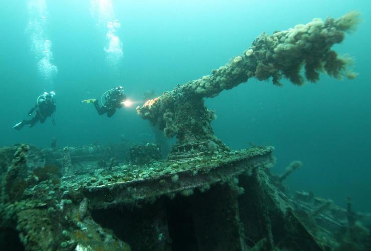 Divers, SS Saganaga, shipwreck, Bell Island,