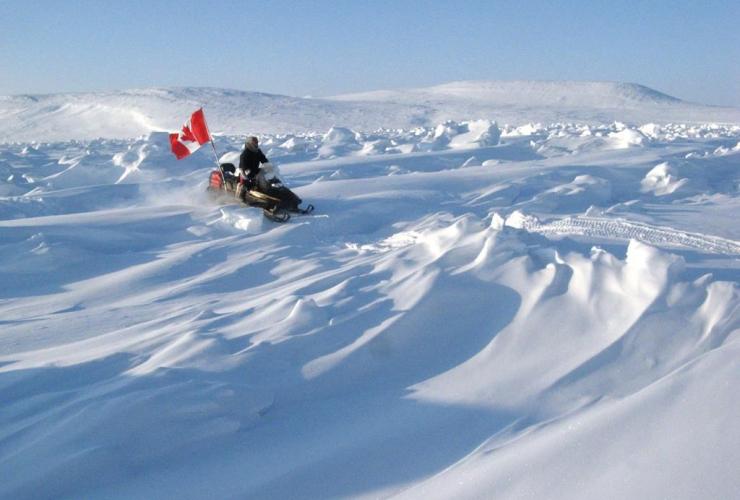 Ranger scout Samson Ejanqiaq, sea ice, patrol, Canadian Rangers, CFS Alert, Eureka Weather Station,