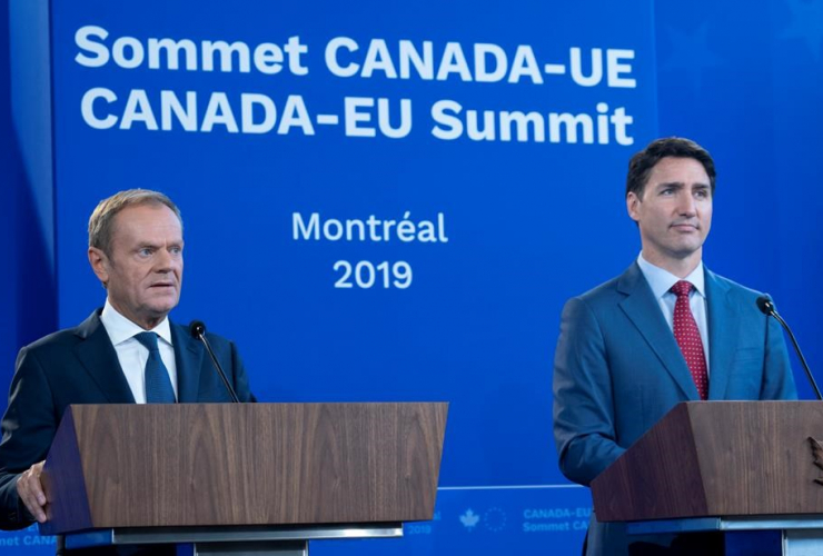 President of the European Council, Donald Tusk, Prime Minister Justin Trudeau,