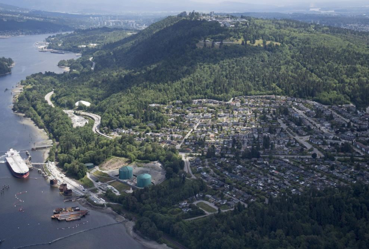 Kinder Morgan, Trans Mountain marine terminal, Burnaby,