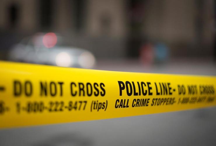 Police tape, Toronto,