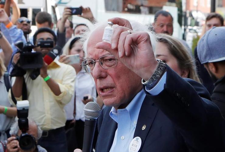 Democratic presidential candidate, Sen. Bernie Sanders, insulin vial, Olde Walkersville Pharmacy,