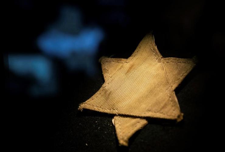 yellow star, Star of David, Holocaust Memorial Center, Budapest, Hungary,