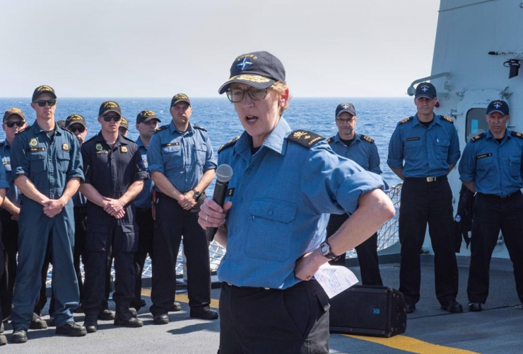 Standing NATO Maritime Group 2 Commander, Commodore Josée Kurtz ,