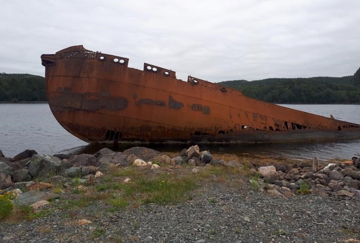 SS Charcot, abandoned whaling ship, Conception Harbour,