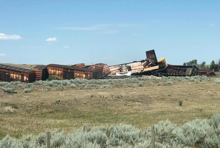 train derailment, hamlet of Irvine, Alberta,