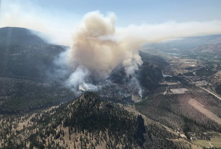 Eagle Bluff fire, British Columbia,