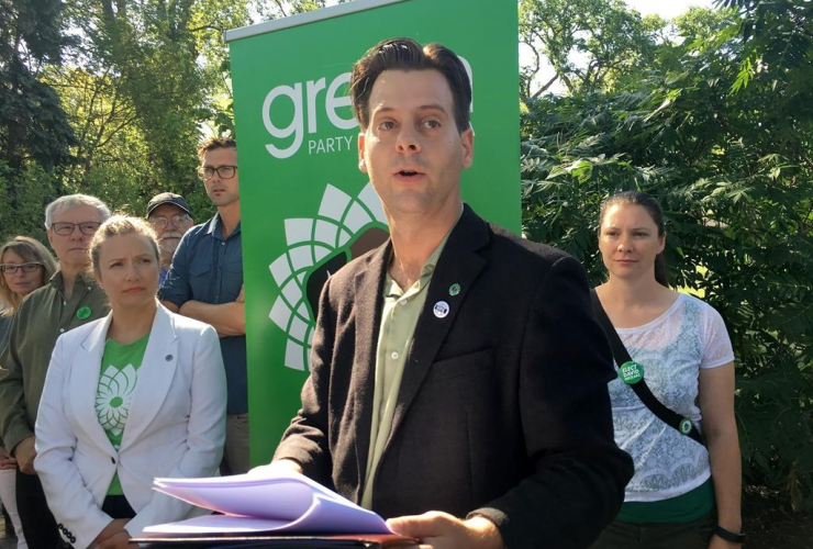 Manitoba Green Party Leader James Beddome,