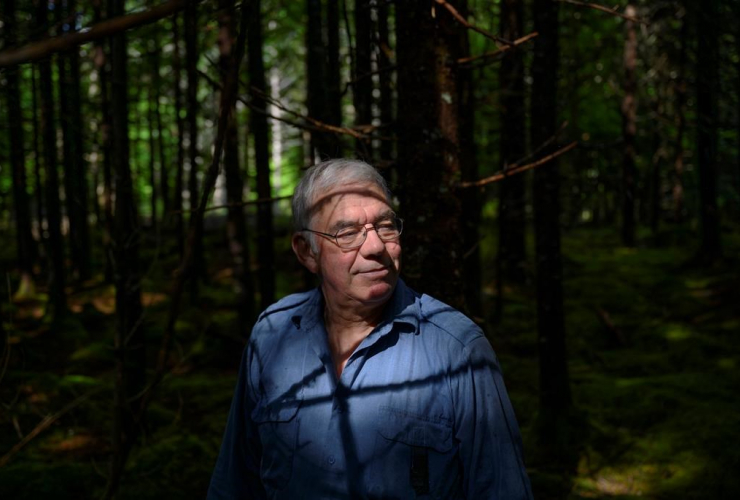 Wood harvester Wade Prest,