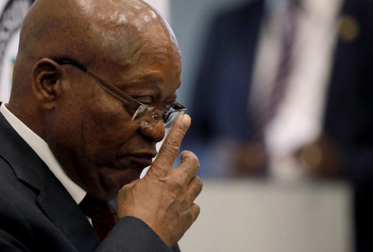 Former South African president Jacob Zuma attends the state commission that is probing wide-ranging allegations of corruption in government and state-owned companies in Johannesburg, on Wed., July 17, 2019. File photo by The Associated Press