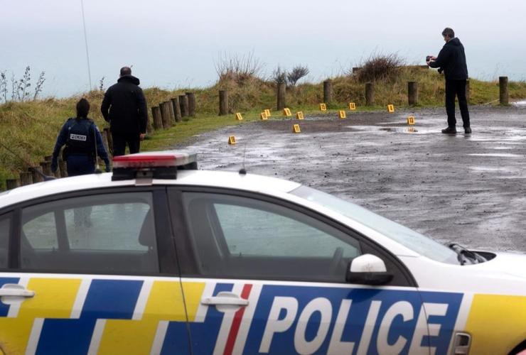 Police, photograph, evidence, Te Toto Gorge, Whaanga, Raglan, New Zealand,