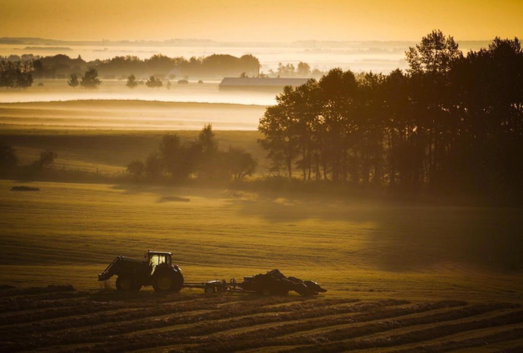 farm tractor, baler,