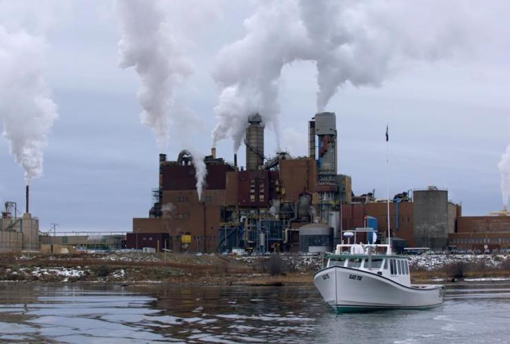 boat, North Pulp mill, Nova Scotia,documentary, The Mill,