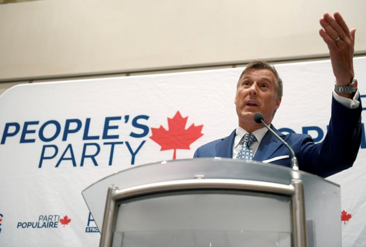 People's Party of Canada leader Maxime Bernier,