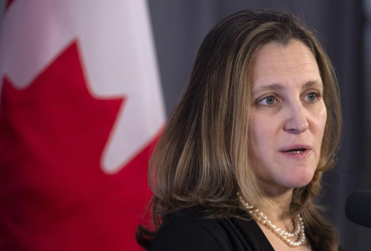 Foreign Affairs Minister Chrystia Freeland,