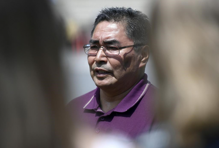 Chief Rudy Turtle of the Grassy Narrows First Nation,