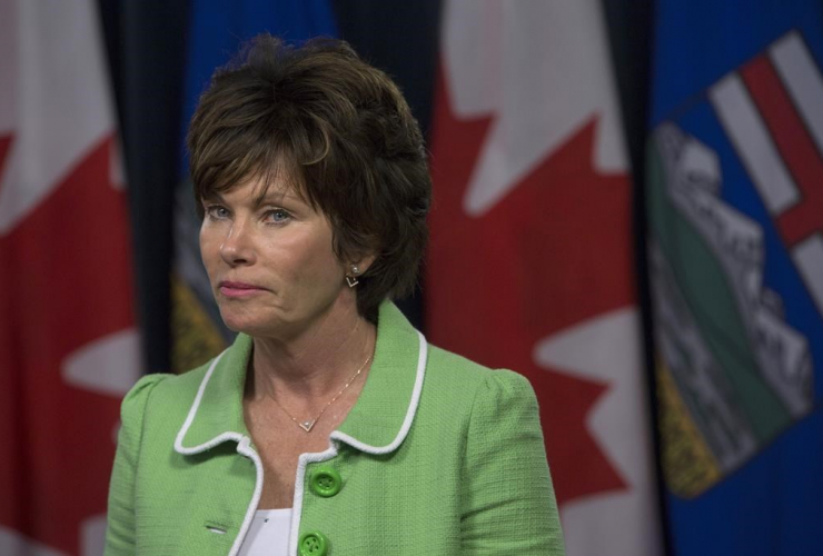 Minister of Energy Sonya Savage, Premier Jason Kenney,