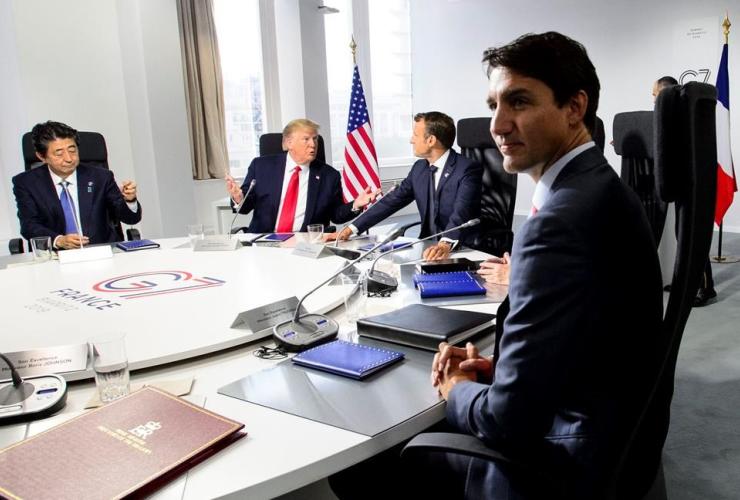Prime Minister Justin Trudeau, G7 Summit, Biarritz, France,