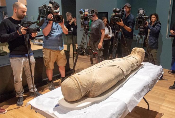Egyptian mummy Nestawedjat,