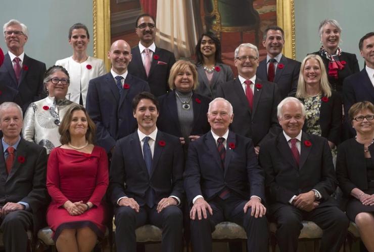 Governor General David Johnston, Prime Minister Justin Trudeau,