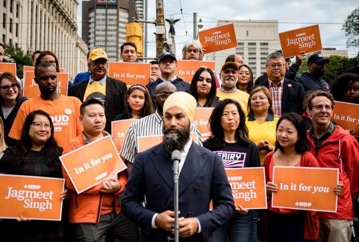 NDP Leader Jagmeet Singh, Toronto,