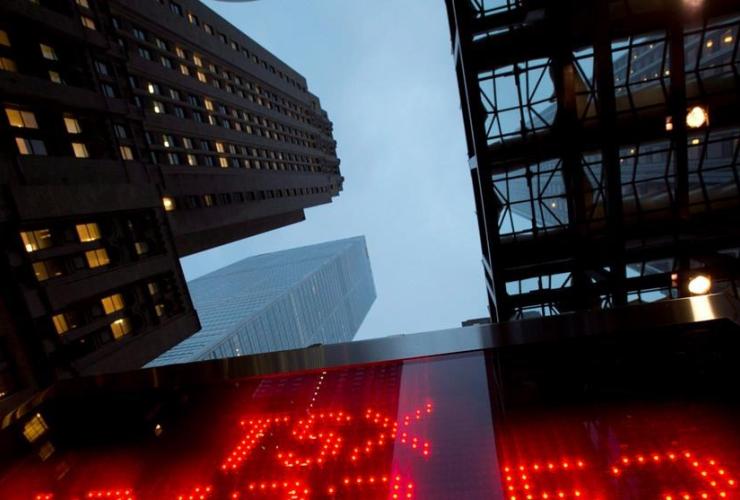 TSX tote board, Toronto,