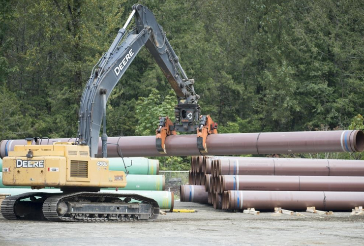 Pipeline, pipes, Trans Mountain, Hope, B.C.,